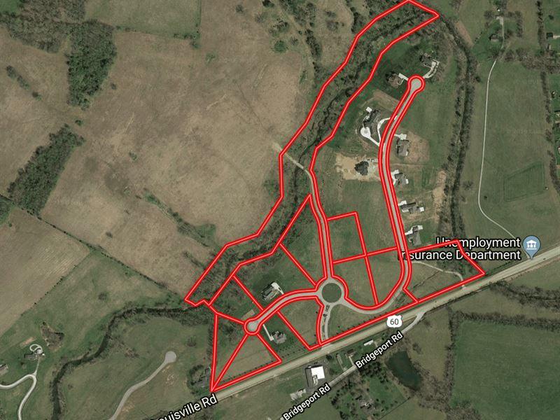 9 Residential Custom Home Sites : Frankfort : Franklin County : Kentucky