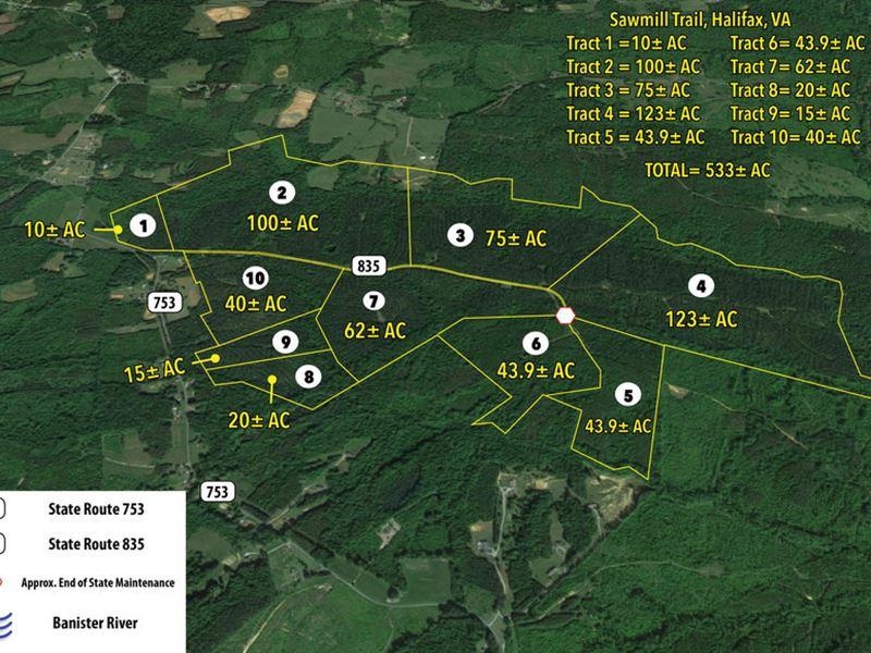 10 Tracts In Halifax, Va : Halifax : Halifax County : Virginia