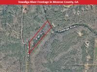 Towaliga River Frontage : Forsyth : Monroe County : Georgia