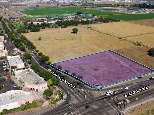 Government Owned Commercial Land : Manteca : San Joaquin County : California