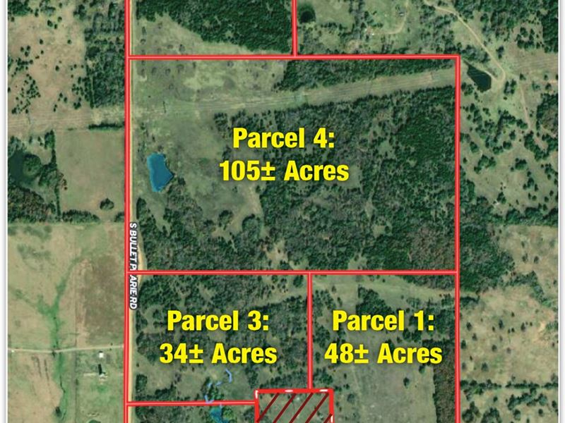 Muli-Parcel Land Auction : Tishomingo : Johnston County : Oklahoma