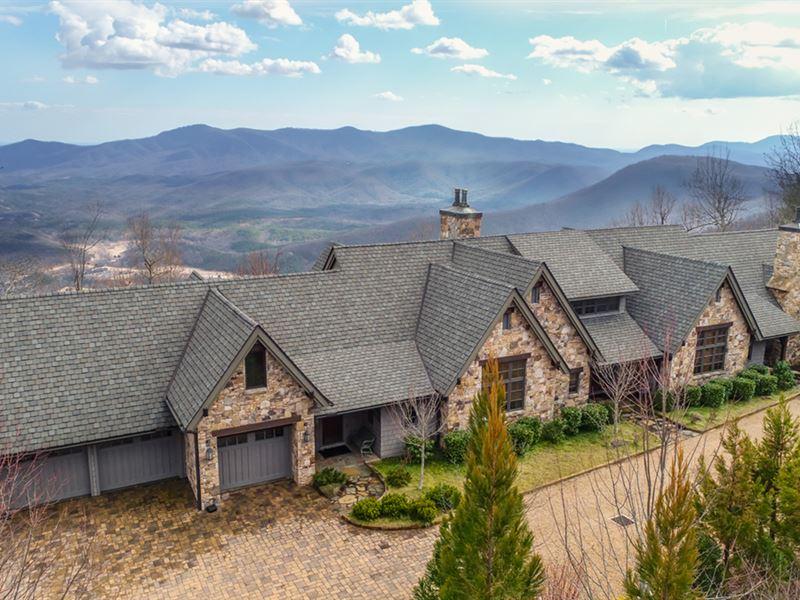 Auction Luxury Mountain Home : Mill Spring : Polk County : North Carolina