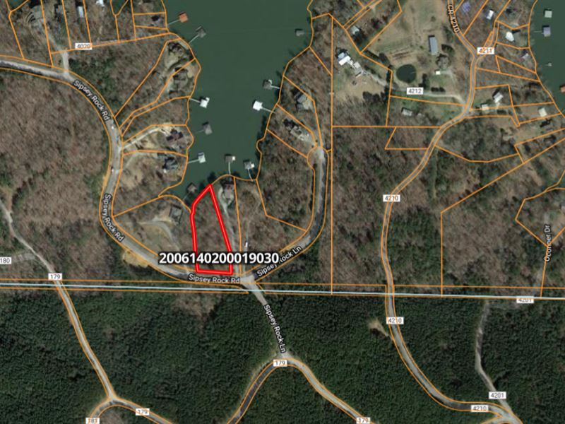Lake Lot 35 Sipsey Rock Lane 1.30 : Crane Hill : Winston County : Alabama