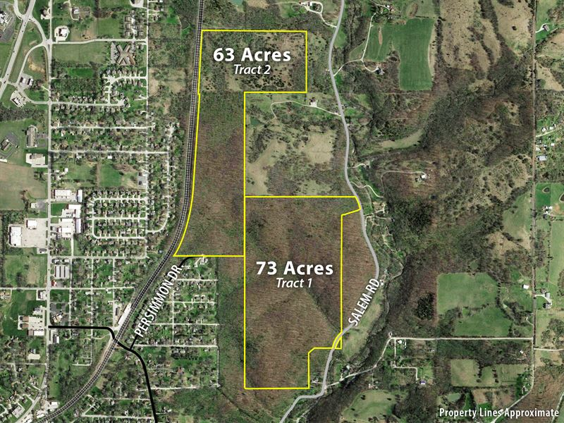137 Acres +- Offered In Two Tracts : Excelsior Springs : Clay County : Missouri