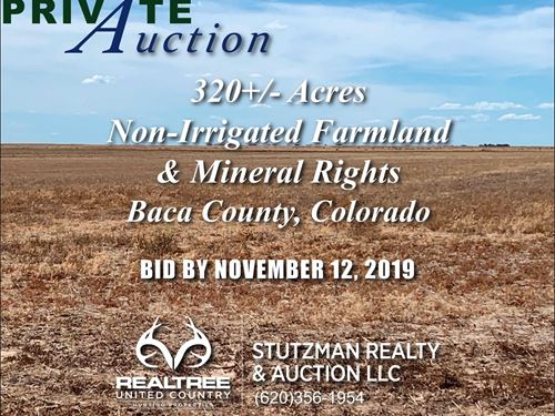 Baca County Colorado 320 Acres : Springfield : Baca County : Colorado