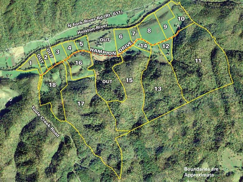 624 Acres On Holston River : Bristol : Bristol County : Virginia