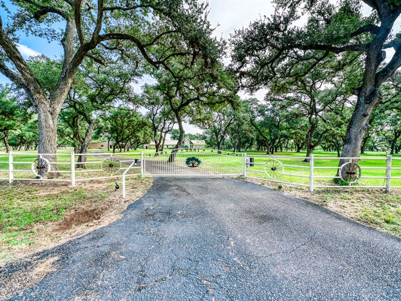 19+ Acres & Country Home : Cuero : De Witt County : Texas