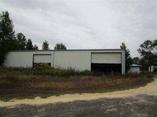 Industrial Building, Land, Pond : Ponce De Leon : Walton County : Florida