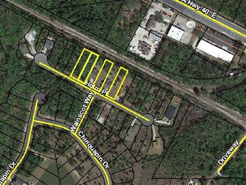 Four Residential Lots : Saint Marys : Camden County : Georgia