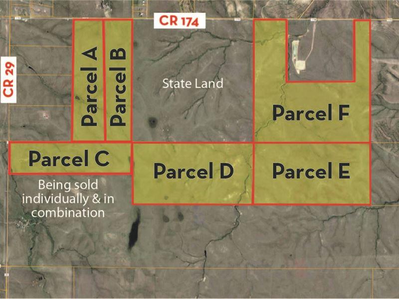 1464 Acres Plus Aquifer Water : Elizabeth : Elbert County : Colorado