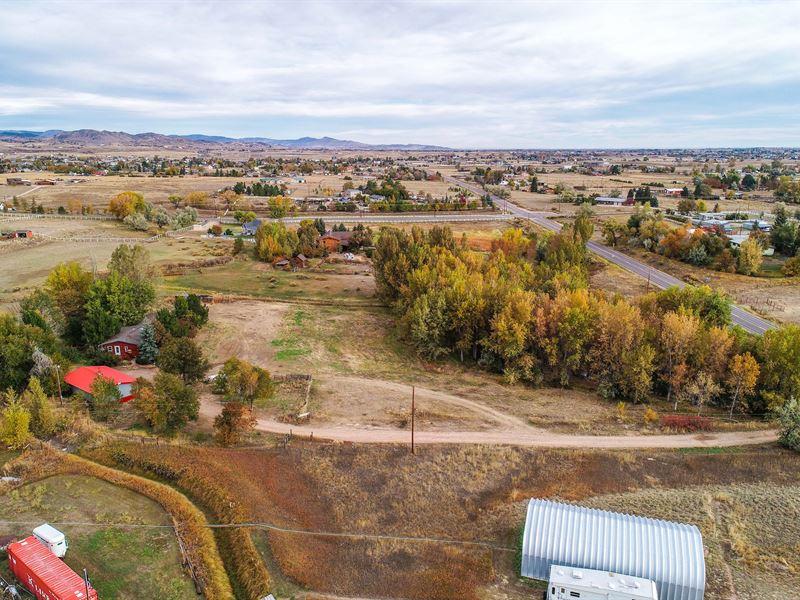 5 AC Rural Property, Horse Arena : Berthoud : Larimer County : Colorado