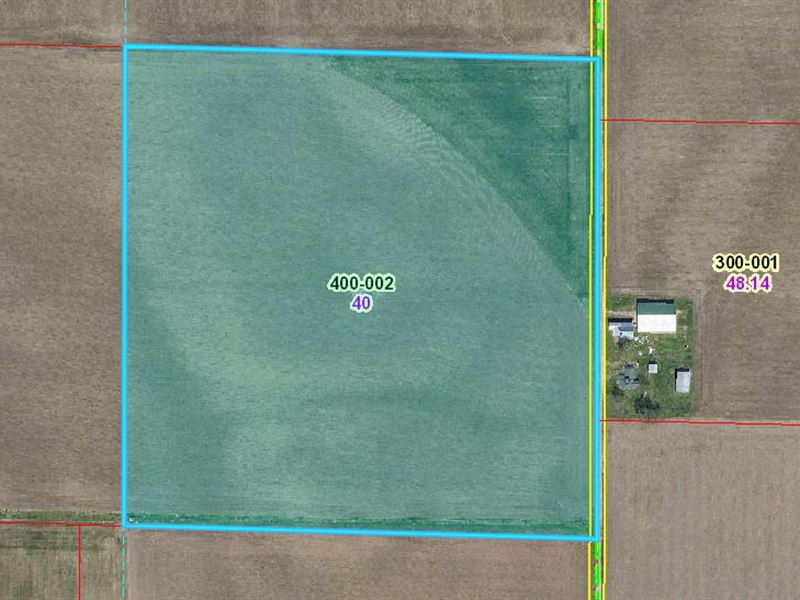40 Acres, Palestine, Il, Auction : Palestine : Crawford County : Illinois
