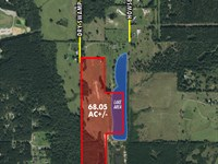 68.05+/- Acres of Pasture & Timber : Laurel : Jones County : Mississippi