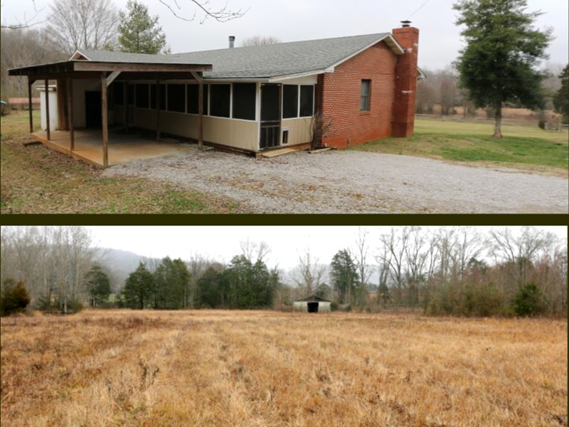 2 Homes & Barns on 35 Ac, 2 Tracts : Sparta : White County : Tennessee