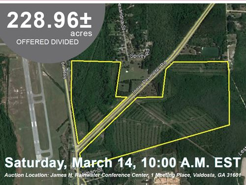 228.96 Acres Offered in 2 Tracts : Valdosta : Lowndes County : Georgia