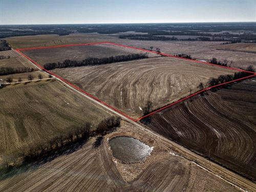 Highly Tillable Row Crop Farm Land : Blackburn : Saline County : Missouri