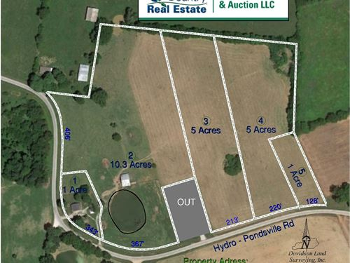 22 Acre Warren County Farm Home : Smiths Grove : Warren County : Kentucky