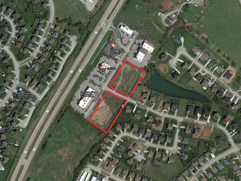 2 Prime Commercial Building Sites : Nicholasville : Jessamine County : Kentucky