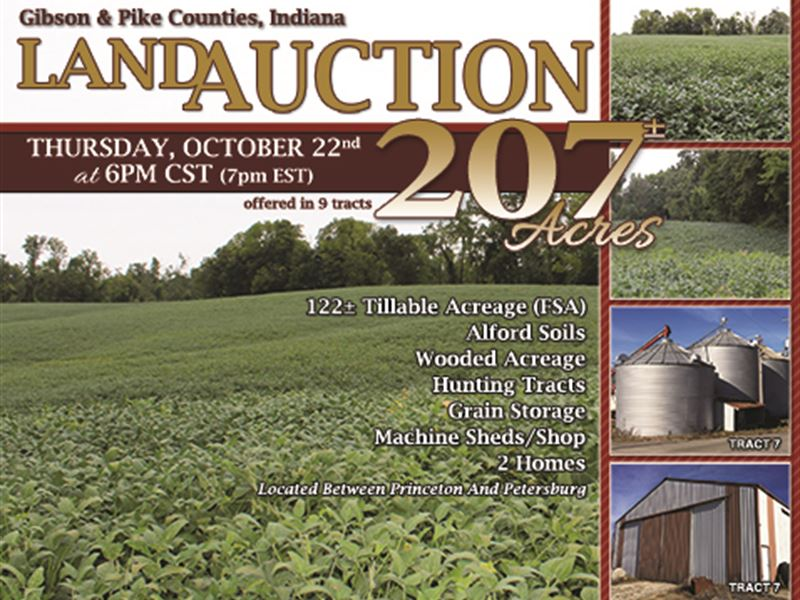 Land Auction In Indiana : Princeton : Gibson County : Indiana
