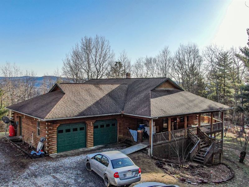 Log Home For Sale in Riner VA : Riner : Montgomery County : Virginia