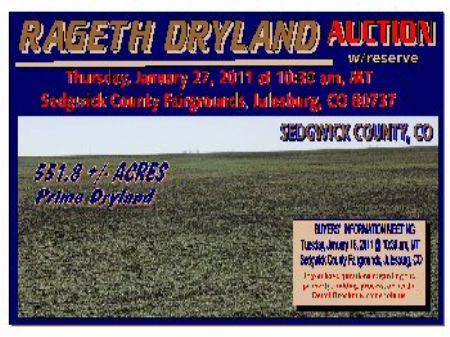Rageth Dryland Auction : Julesburg : Sedgwick County : Colorado