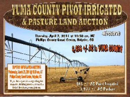 4,456 Ac Pivot Irr & Pasture : Holyoke : Yuma County : Colorado