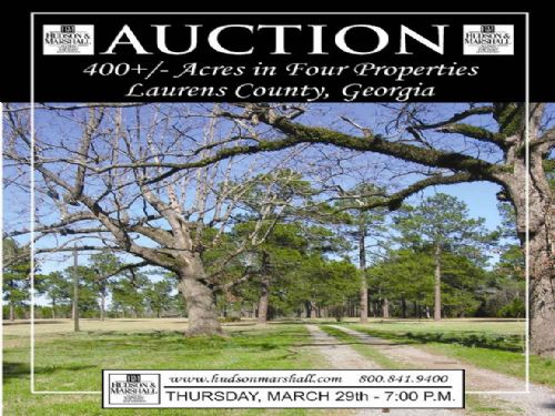 400 Acres In 4 Separate Properties : Dublin : Laurens County : Georgia