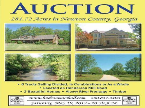 281 Acres On Alcovy River : Covington : Newton County : Georgia