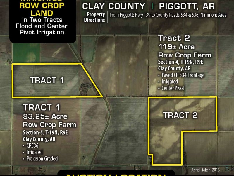 Ne Ar Farmland Auction : Piggott : Clay County : Arkansas
