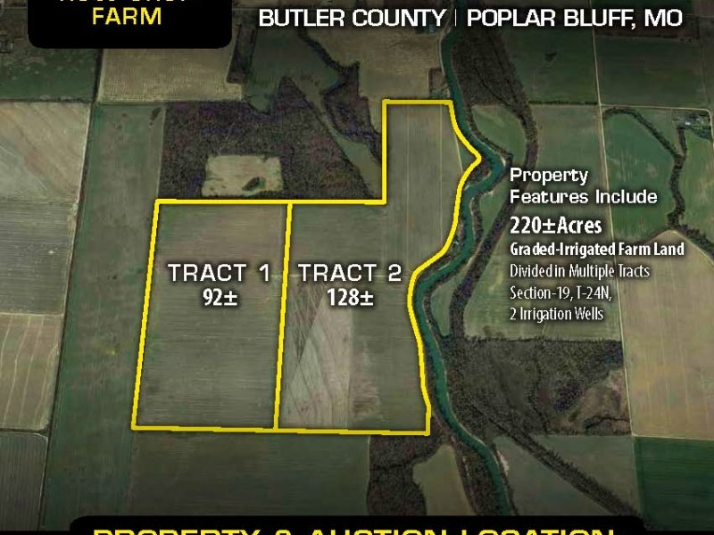 Se Missouri Farm Land Auction : Poplar Bluff : Butler County : Missouri