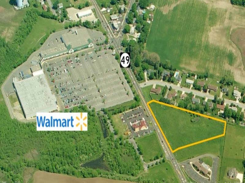 3.6+/- Acres Raw Land On Route 49 : Pennsville : Salem County : New Jersey